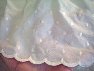 Dotted White Ruffle