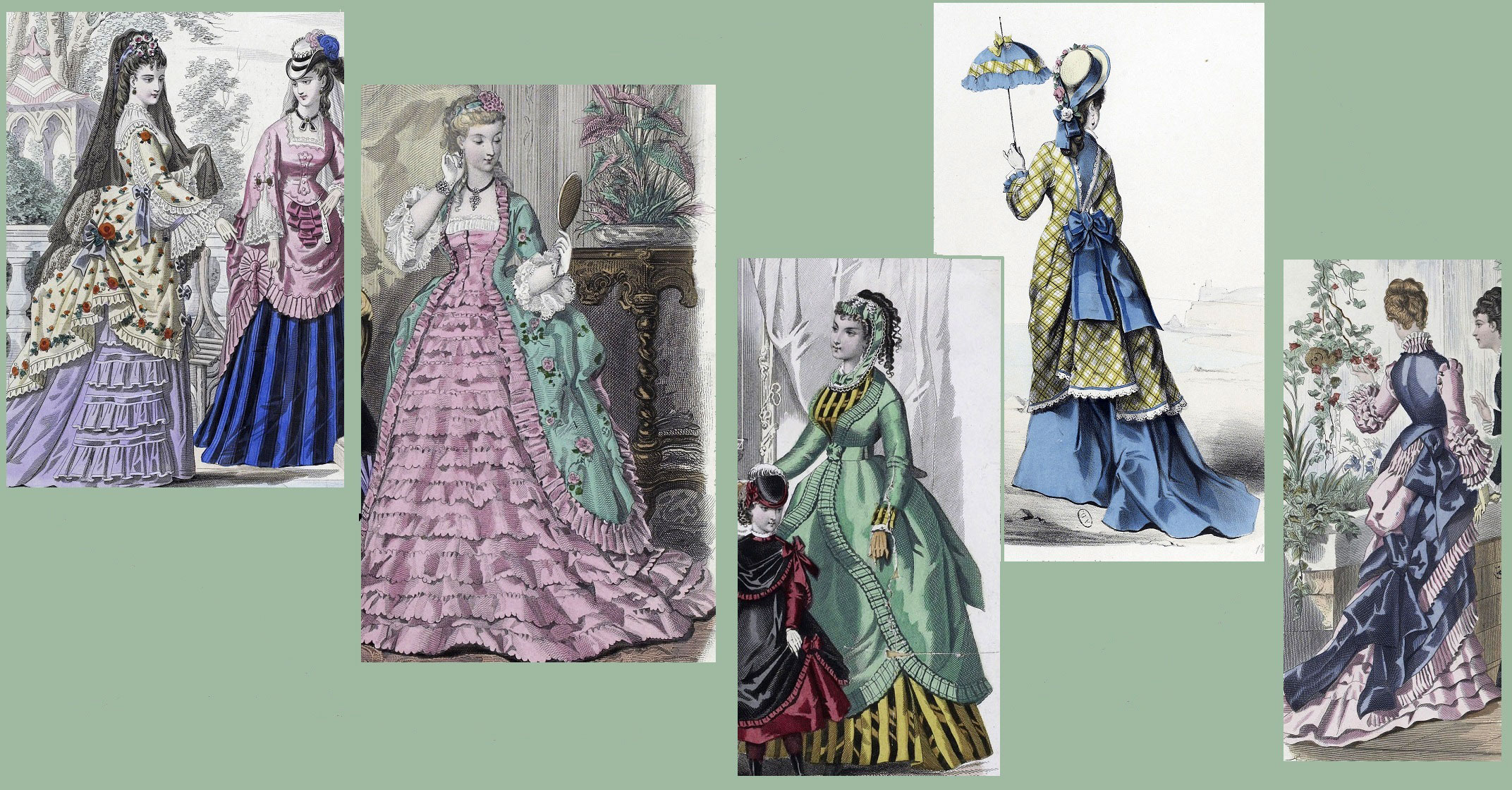 Victorian Colors designing an authentic victorian costume i | yesterday's thimble