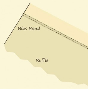 Bias-Covered Ruffle Seam