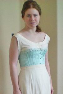 Corset, Worn with Petticoat