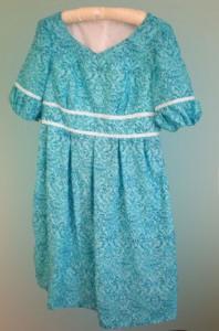 Aqua Plissé Dress