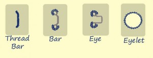 Eyes, Bars, Thread Bars, & Eyelets