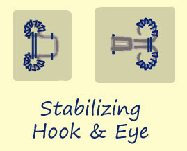 Stabilizing Hook & Eye