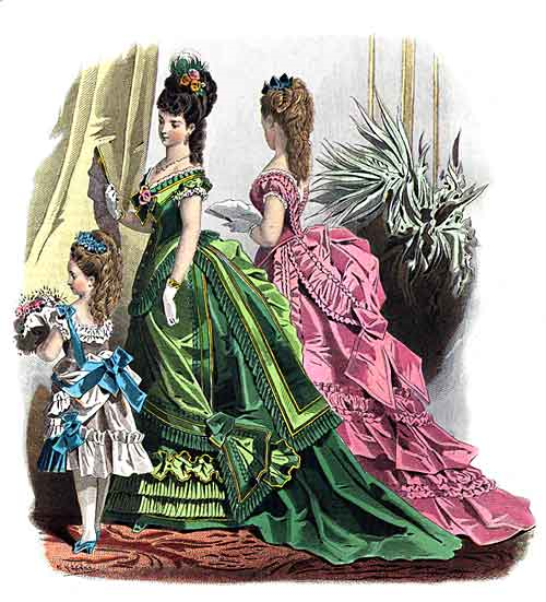 Full color victorian fashions 1870 1893 plate 9 courtesy of dover