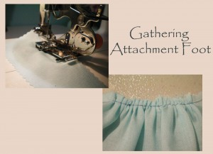 Gathering Attachment Foot