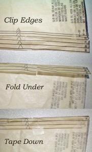 Folding Pattern Sizes