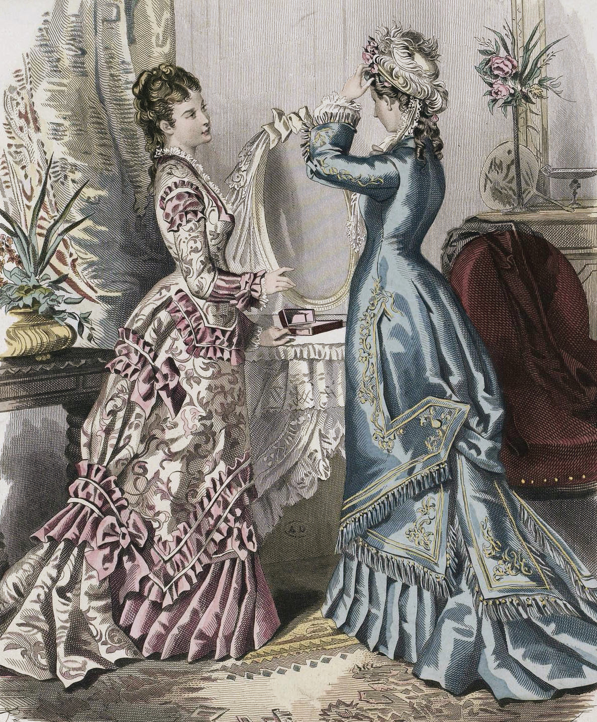 1876 Princess-Cut Day Dresses