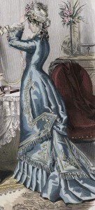 Closeup of Blue Gown