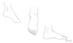Detail of Bare Feet