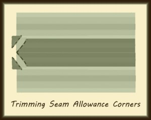 Trimming Seam Allowance Corners
