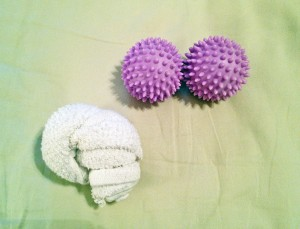 Dryer Balls vs. Knotted Towel