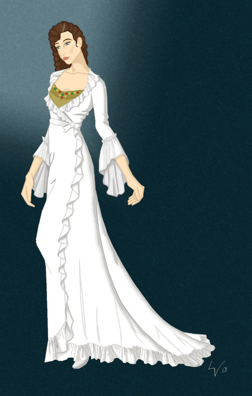 The Phantom Of The Opera In Miniaturewhite Dressing Gown