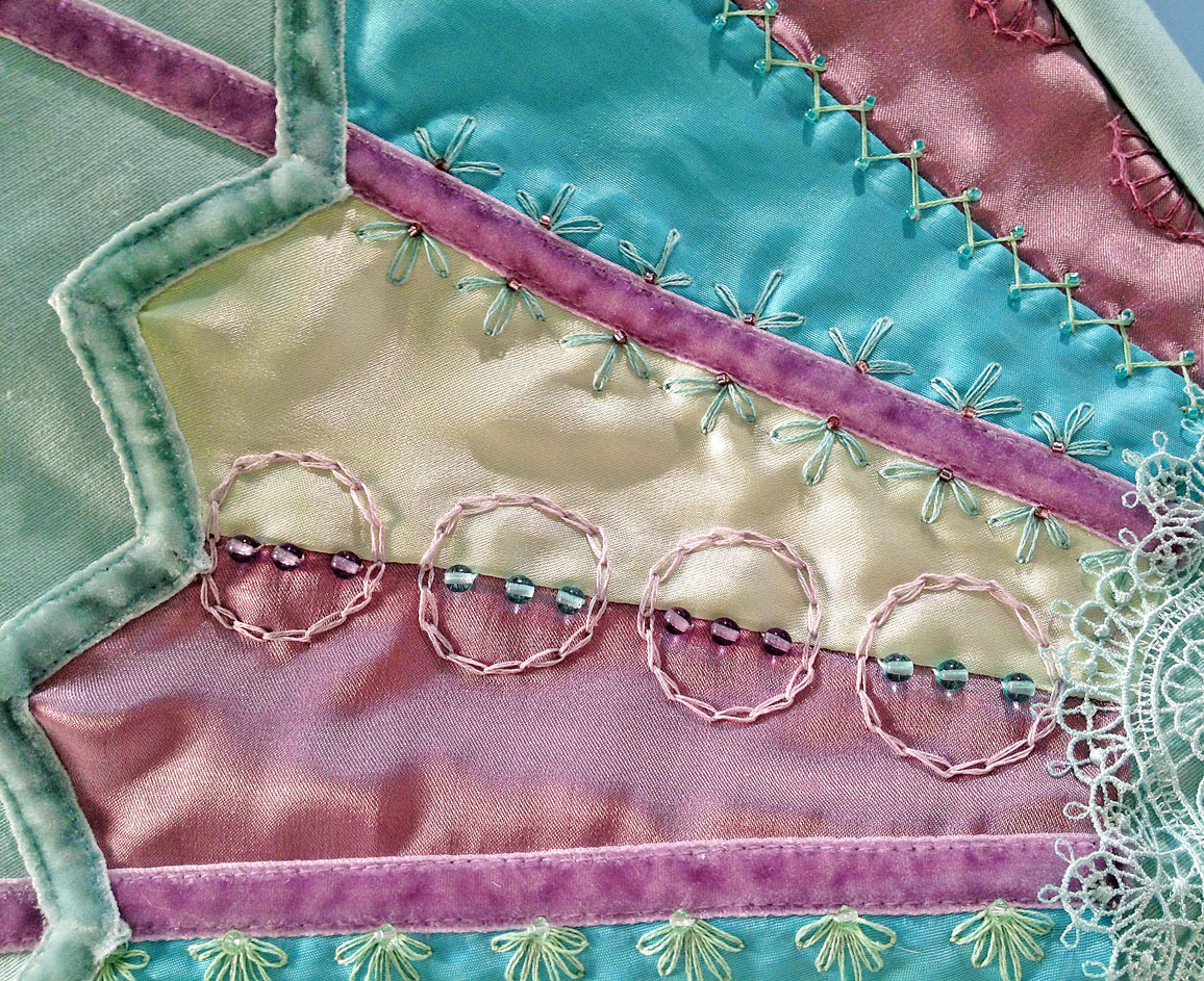 Crazy quilted sewing machine cover yesterday s thimble