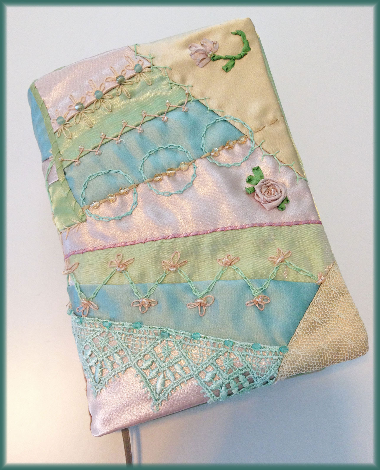 Book Cover Sewing Machines : Crazy quilted sewing machine cover yesterday s thimble