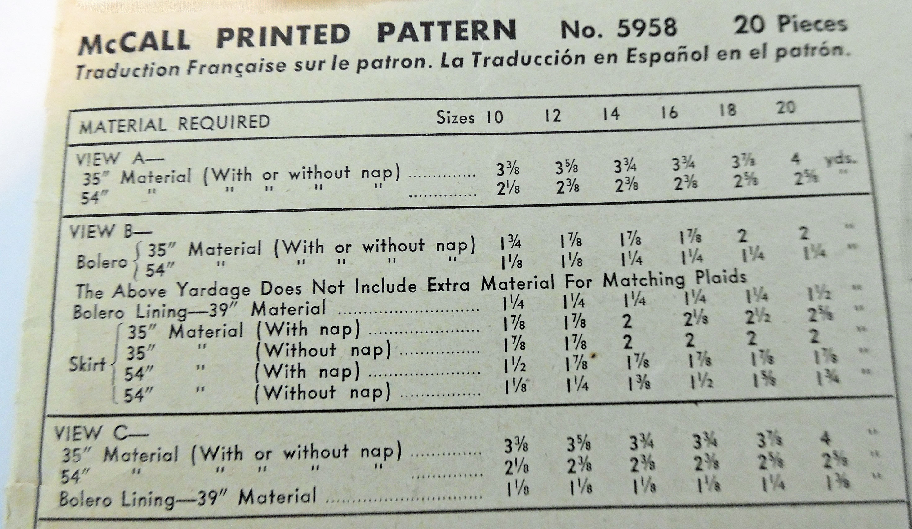 Throw Pillow Yardage Calculator : Basics: Reading a Pattern Envelope Yesterday s Thimble