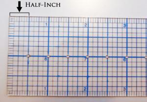 Half-Inch Marks