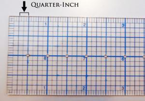 Quarter-Inch Marks
